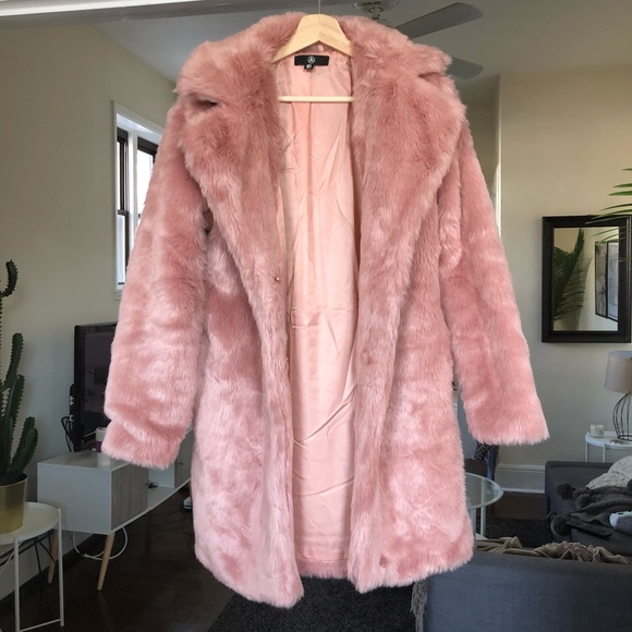 Missguided Jackets & Blazers - Pink faux fur coat